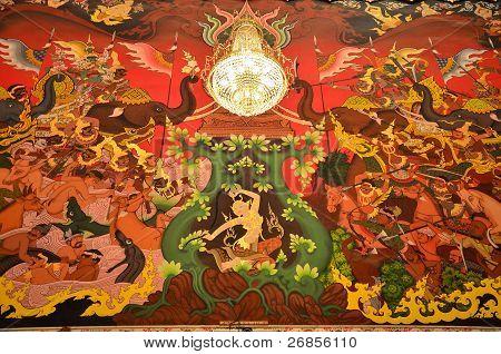 Goddess of the Earth protecting the Buddha