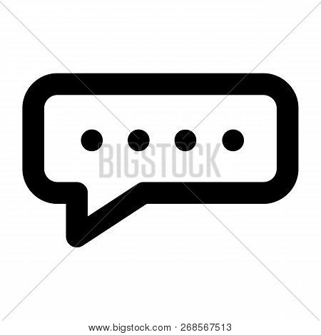 Chat Bubble Icon. Outline Chat Bubble Icon For Web Design Isolated On White Background