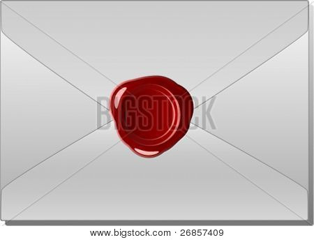 Old envelope with wax seal