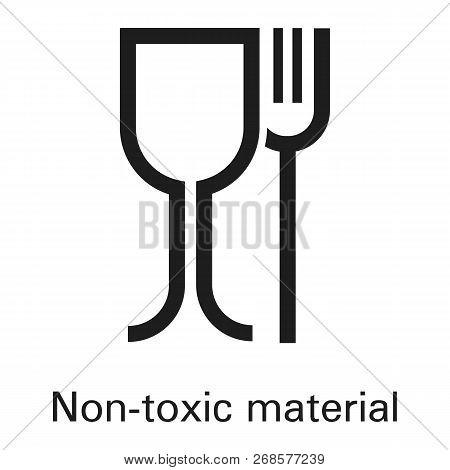 Non Toxic Plastic Material Icon. Simple Illustration Of Non Toxic Plastic Material Icon For Web Desi