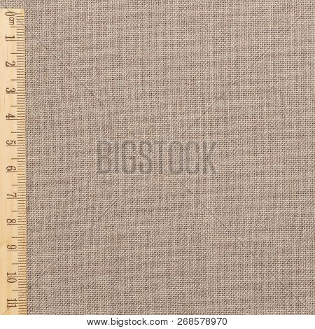 Texture Canvas Fabric As Background. Comfort And Practicality Clothing