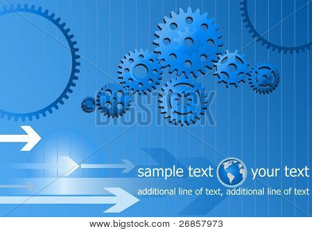template web background with gear wheels