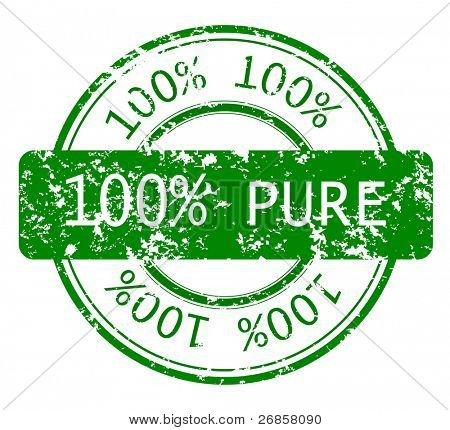 100% PURE ecology stamp