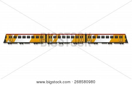 Passenger Train Icon. Cartoon Of Passenger Train Icon For Web Design Isolated On White Background