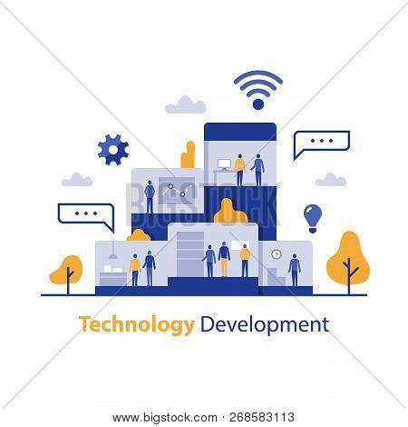 Technology Development, Innovative Solution, It Business Office, Product Design Process, Digital Mar