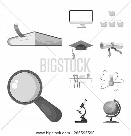 Vector Design Of Education And Learning Symbol. Set Of Education And School Vector Icon For Stock.