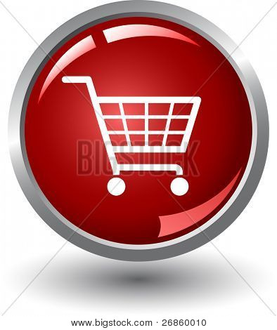 Shopping basket button. Internet Shopping