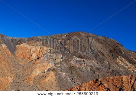 Vibrant View Of Badwater Basin, Endorheic Basin In Death Valley National Park, Death Valley, Inyo Co