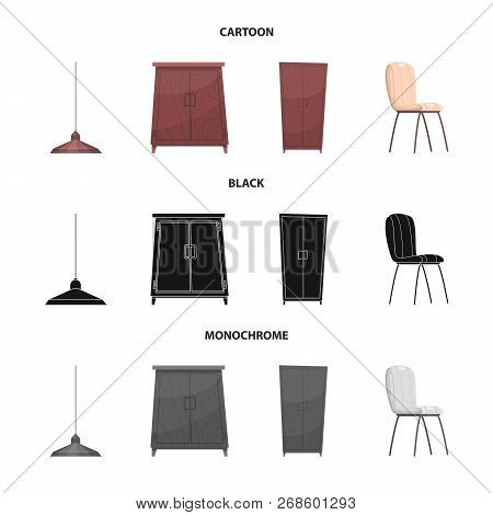 Isolated Object Of Furniture And Apartment Icon. Set Of Furniture And Home Stock Vector Illustration