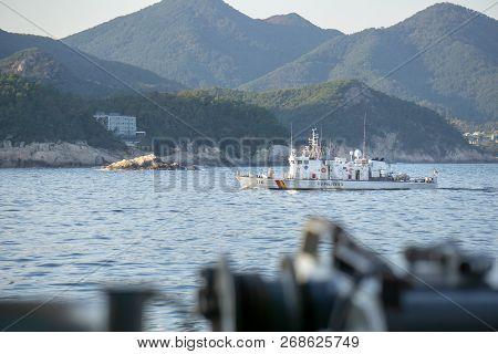Geoje, South Korea - October 20, 2018: Haenuri Class Hull Number 116, The South Korea Coast Guard Pa