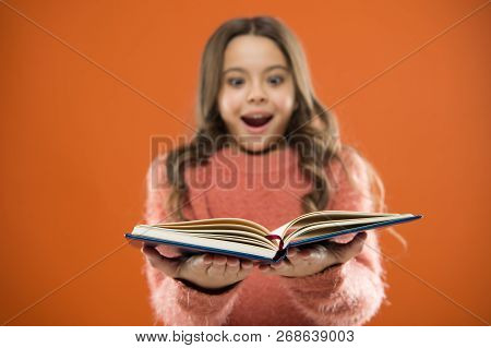 Child Enjoy Reading Book. Book Store Concept. Wonderful Free Childrens Books Available To Read. Chil