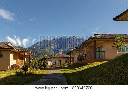 Mount Kinabalu view form Dream World Resort, Kundasang, Sabah, Borneo poster