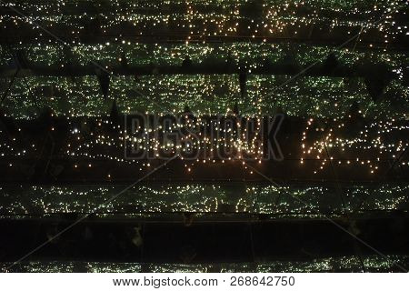 Infinity Room Of Lights And Mirrors Creating The Impression Of Stars In The Sky Going On Forever, Bl