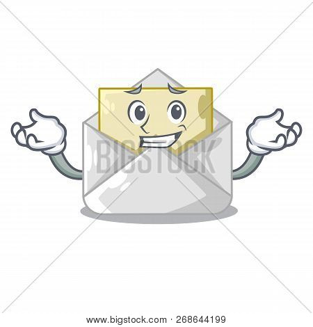Grinning Open Envelope Greeting Posters On Character