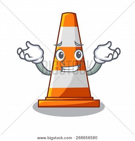 Grinning Traffic Cone On Made In Cartoon