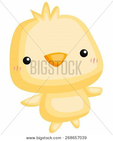A Vector Of A Cute And Adorable Chicken