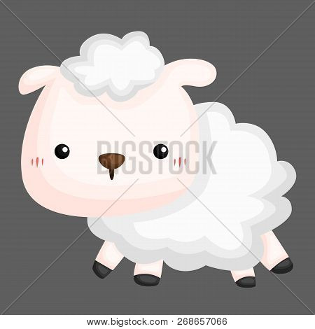 A Vector Of A Cute And Adorable Sheep