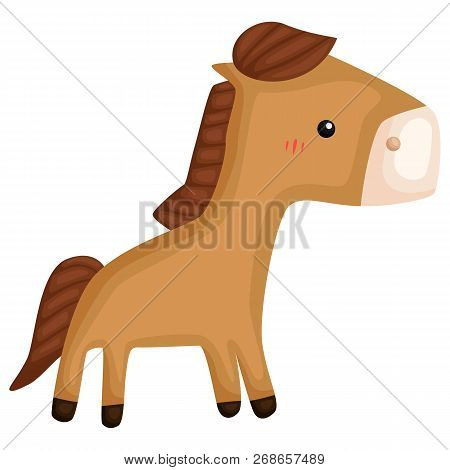 A Vector Of A Cute And Adorable Horse