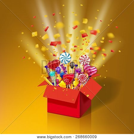 Christmas Sweet Gift Vector & Photo (Free Trial) | Bigstock