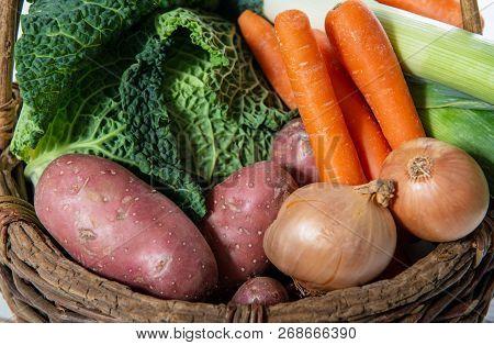 Seasonal Vegetables For Preparation Of French Pot Au Feu
