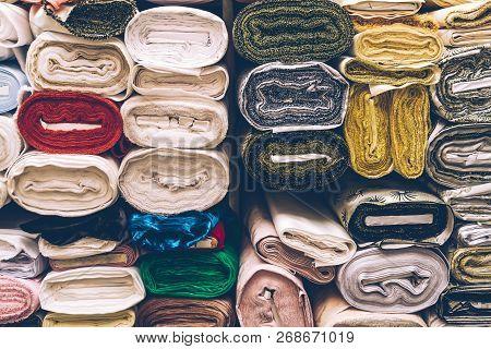 Satin Drapery Fabric Rolls