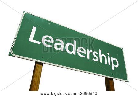 Señal de tráfico de liderazgo