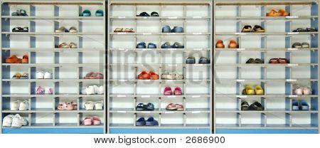 Children Shoes On Rack