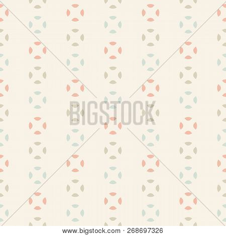 Retro Vintage Seamless Pattern. Elegant Abstract Background With Simple Geometric Shapes, Colorful D