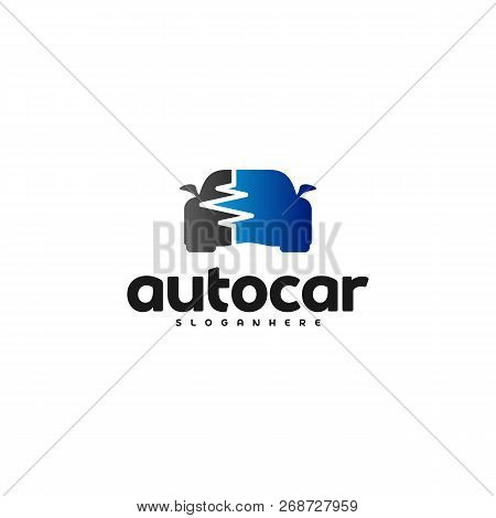 Car Pulse Logo Template. Car Repair Logo Design Template. Auto Car Logo Repair