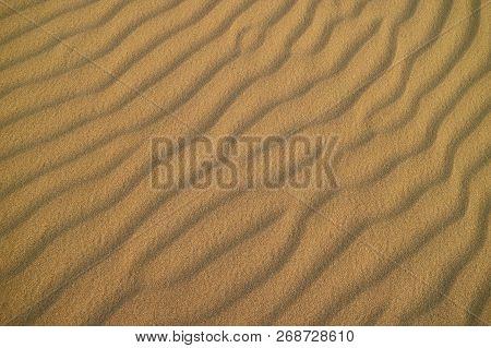 Impressive Sand Ripple Pattern On The Sand Dune Of Huacachina Desert, Ica, Peru