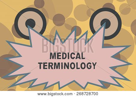 Text sign showing Medical Terminology. Conceptual photo language used to precisely describe the huanalysis body poster