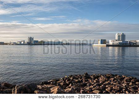 Navigation Pass S-1 on the main sea fairway, Kronstadt, Saint-Petersburg, Russia poster