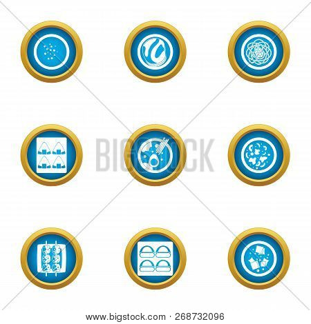 Matter Icons Set. Flat Set Of 9 Matter Icons For Web Isolated On White Background