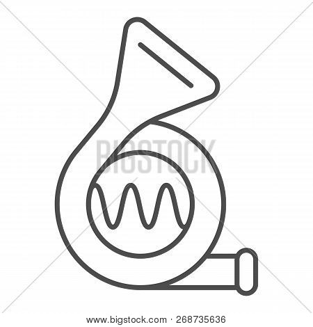 Car beep thin line icon. Signal vector illustration isolated on white. Klaxon outline style design, designed for web and app. Eps 10. poster