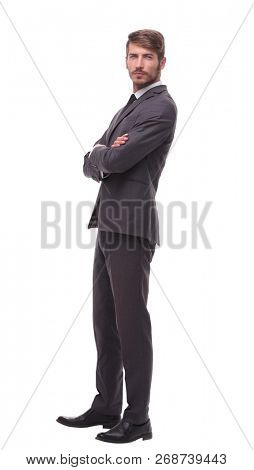 full-length .portrait of a confident young businessman