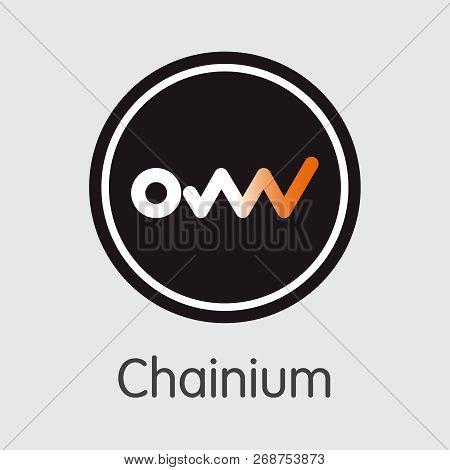 Icon Chainium Chx Crypto Currency - Vector Illustration.