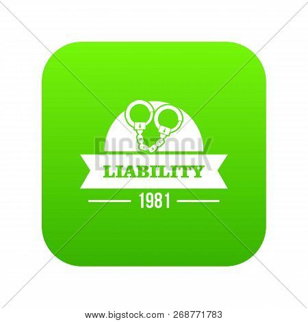 Liability Icon Green Isolated On White Background