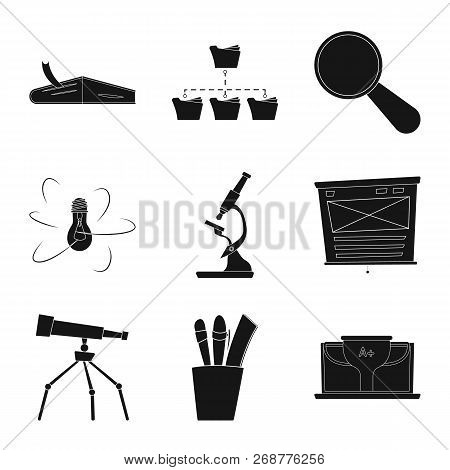 Isolated Object Of Education And Learning Logo. Collection Of Education And School Vector Icon For S