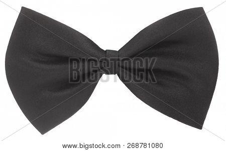 Black hair bow tie or necktie