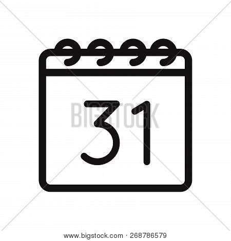 31 December Icon Isolated On White Background. 31 December Icon In Trendy Design Style. 31 December