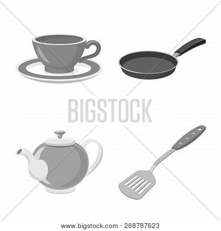 Vector Design Of Kitchen And Cook Symbol. Set Of Kitchen And Appliance Stock Vector Illustration.