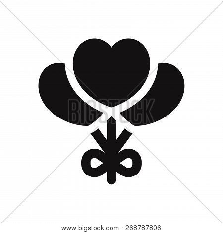 Heart Balloons Icon Isolated On White Background. Heart Balloons Icon In Trendy Design Style. Heart