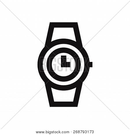 Wristwatch Icon Isolated On White Background. Wristwatch Icon In Trendy Design Style. Wristwatch Vec