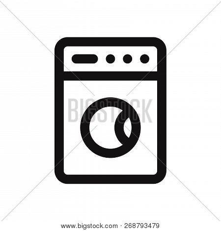 Washing Machine Icon Isolated On White Background. Washing Machine Icon In Trendy Design Style. Wash