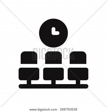 Waiting Room Icon Isolated On White Background. Waiting Room Icon In Trendy Design Style. Waiting Ro