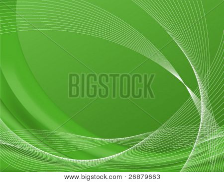 Green background complete with wire frames, perfect for templates; contains gradient meshes only editable in Adobe Illustrator