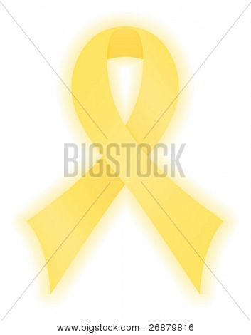 Smooth, yellow satin awareness ribbon for support of our troops