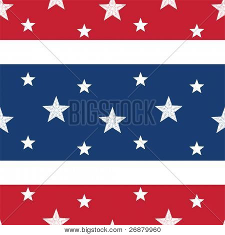 Patriotic seamless tile with white stars