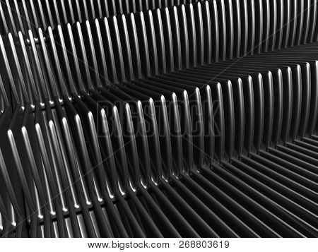Aluminium stripe background