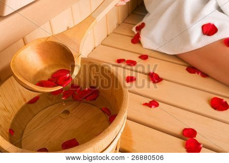rose and sauna